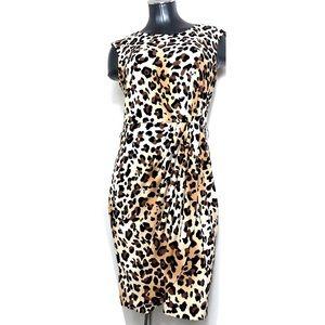 Calvin Klein Leopard Animal Print Bodycon Dress